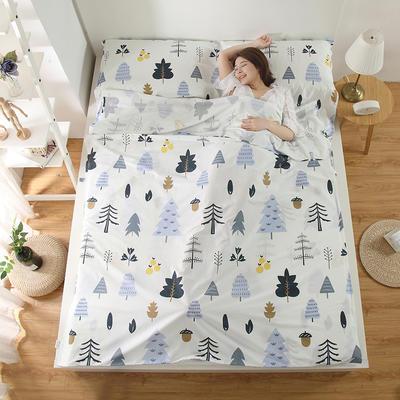 2018新品全棉旅行隔脏睡袋 月光森林2.0*2.3米