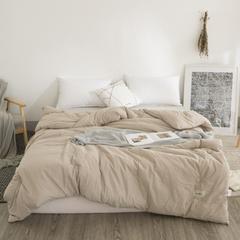 2018新款-全棉水洗棉冬被 150x200cm4.5斤 驼色