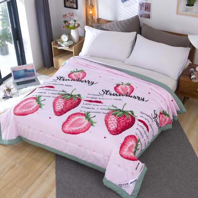 2020新款莫代尔水洗大版夏被 150cm*200cm 草莓