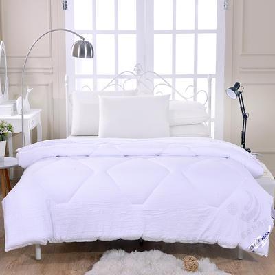 .2020新款莫代尔水洗棉蓄能发热被 冬被160x210cm  4斤 白