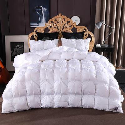 2020新款促销扭花羽绒被冬被被子被芯 200*230cm6.5斤 白