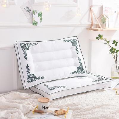 欧式刺绣枕48*74 定型羽丝绒枕 欧式刺绣枕/个