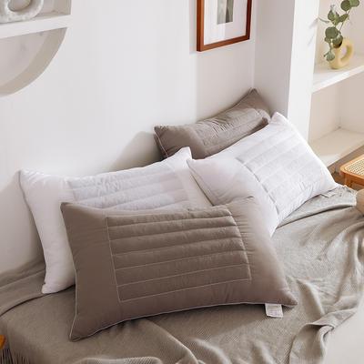 磨毛荞麦两用枕头芯 白色750克