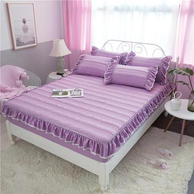 米娜系列-单品夹棉床笠 150X200CM 丁香紫