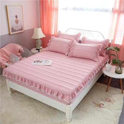 米娜系列-单品夹棉枕套 48cmX74cm 粉玉色