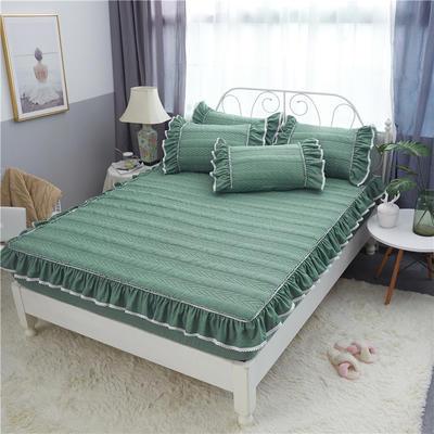 米娜系列-单品夹棉枕套 48cmX74cm 橄榄绿