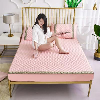 2019新款莫代尔夹棉单品床笠软席(绿野仙踪) 150cmx200cm 千禧粉