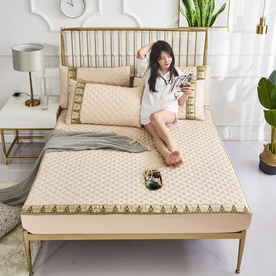 2019新款莫代尔夹棉单品床笠软席(绿野仙踪) 150cmx200cm 驼金色