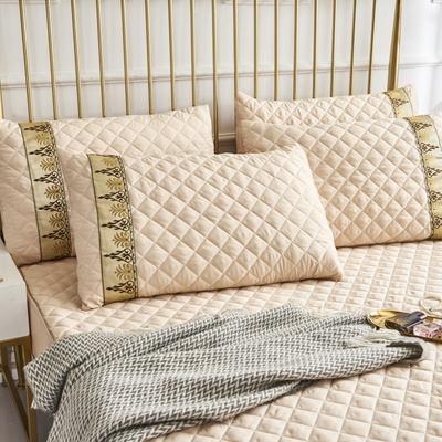 2019新款莫代尔夹棉单品枕套(绿野仙踪) 48cmX72cm 驼金色