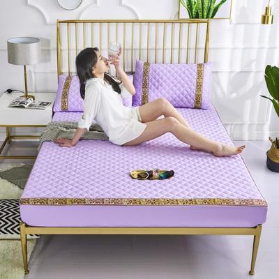 2019新款 美式夾棉床笠/床护垫 150cmx200cm 木槿紫