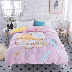 贝琳卡璐   大版全棉水晶绒被套单件(单品) 180x220cm 宝宝熊