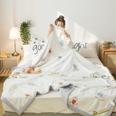 2020新款水洗棉花夏被 150x200cm 咖啡日记