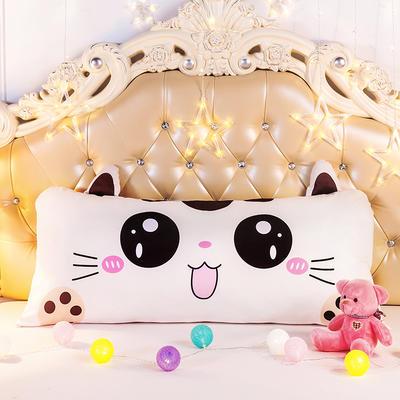 2020新款卡通床靠垫 50*110cm 小猫咪