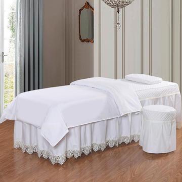 凤榻家纺   2018新品高密度纯棉美容床罩四件套