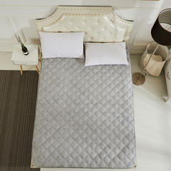 2018新款-法莱绒床垫 法莱绒床褥 CIBAO(瓷宝)床垫 QQ群:8558588 180*200 法莱绒保健床垫-灰色