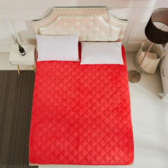 2018新款-法莱绒床垫 法莱绒床褥 CIBAO(瓷宝)床垫 QQ群:8558588 180*200 莱绒保健床垫-砖红