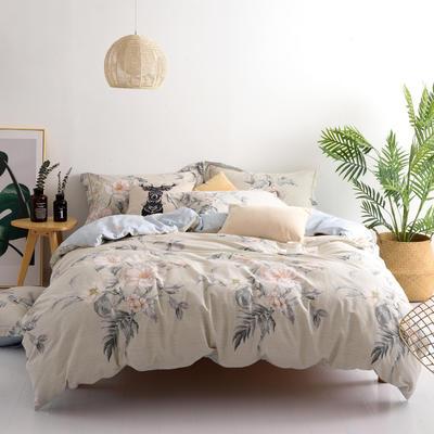 2018新款全棉13372 四件套 1.5m(5英尺)床 花开富贵