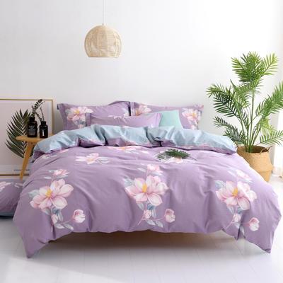 希文-2019全棉13372四件套早春新品 1.5m(5英尺)床 莱茵春色-紫