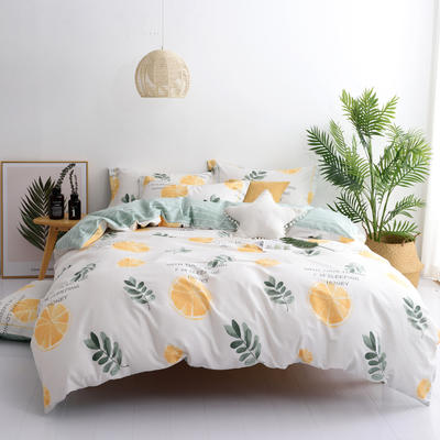希文-2019全棉13372四件套早春新品 1.8m(6英尺)床 香橙满园