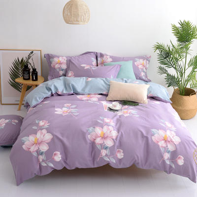 2019新款全棉13372四件套早春系列 1.5m床单款 莱茵春色-紫