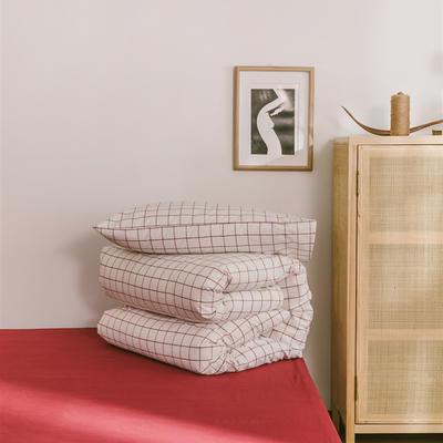 2020色织水洗棉基础款-大格系列单枕套 48cmX74cm/只 初春