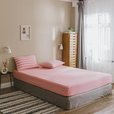 2020色织水洗棉基础款-渐变系列单床笠 120cmx200cm 渐变格粉