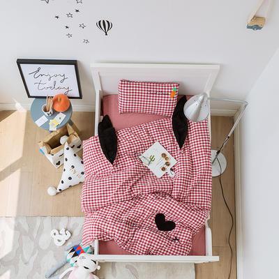 2018新品鬼马小精灵系列色织水洗棉三件套 S码三件套 兔子-Bunny