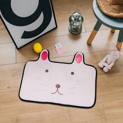 2018新品可爱小门垫 60*45cm 粉小兔