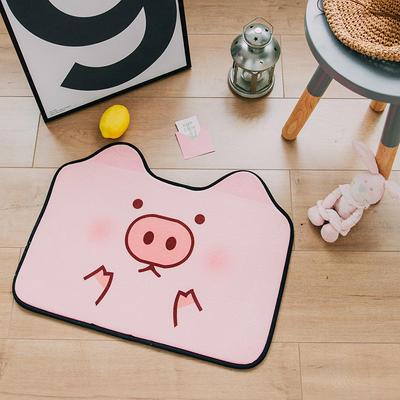 2018新品可爱小门垫 60*45cm 粉猪猪