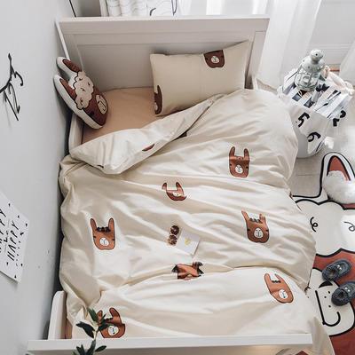 2018新品40匹马棉四件套-小床棚拍图 S码三件套 羊驼