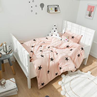 2018新品全棉针织棉四件套-少女星小床版 NB码床单款三件套 少女星