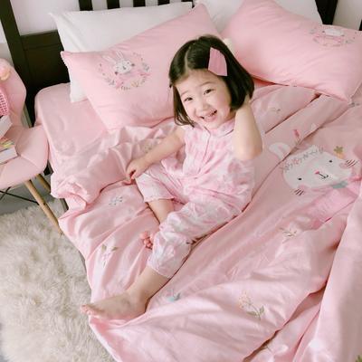 2018新款60贡缎长绒棉兔子酱模特图 1.5m(5英尺)床 兔子酱