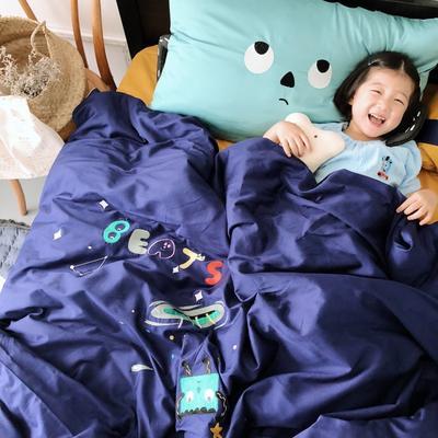 2018新款60贡缎长绒棉宇宙小怪兽模特图 1.8m(6英尺)床 宇宙小怪兽