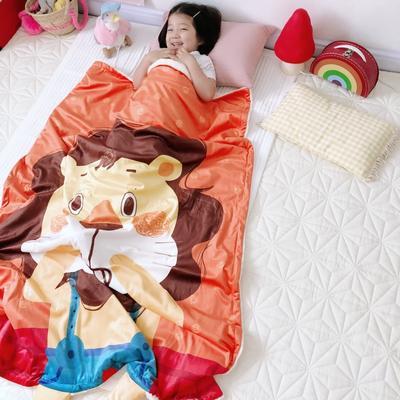 2018新款羊驼绒毛毯模拍 100*140cm 小狮子HONNY