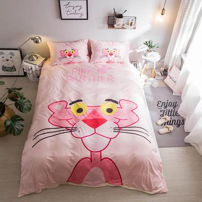 2018新款终极保暖神器汇总四件套 1.2m(4英尺)床 粉红豹