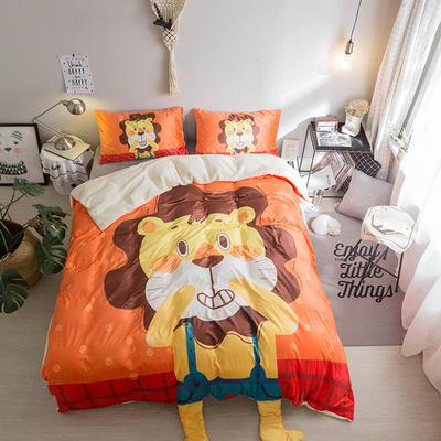 2018新款终极保暖神器汇总四件套 1.2m(4英尺)床 狮子HONNY