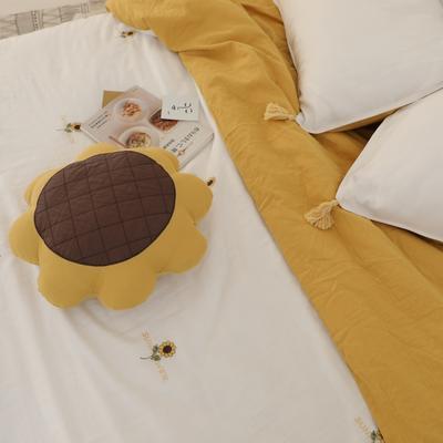 2019新款纱布系列同款抱枕 直径45 向日葵抱枕