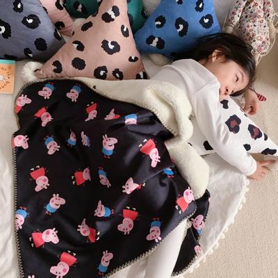 2019新款披肩毯-宝宝 S:100*68cm(宝宝款) 披肩-卡豹纹+黄格子+小猪猪