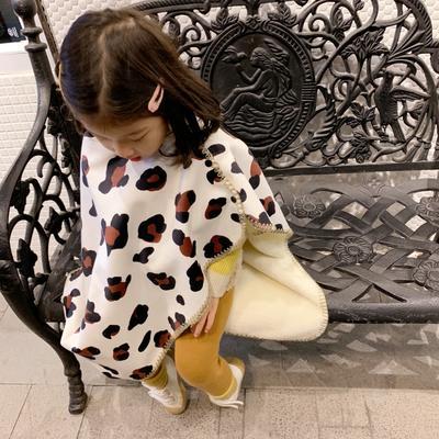 2019新款披肩毯-宝宝 S:100*68cm(宝宝款) 披肩毯-白豹纹