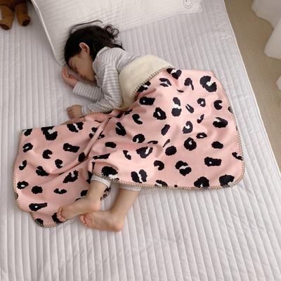 2019新款披肩毯-宝宝 S:100*68cm(宝宝款) 披肩毯-粉豹纹