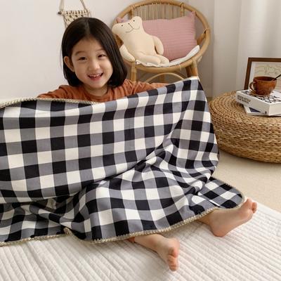 2019新款披肩毯-宝宝 S:100*68cm(宝宝款) 披肩毯-黑白格子