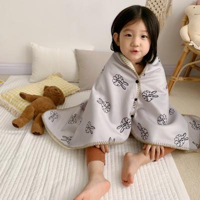 2019新款披肩毯-宝宝 S:100*68cm(宝宝款) 披肩毯-灰兔子