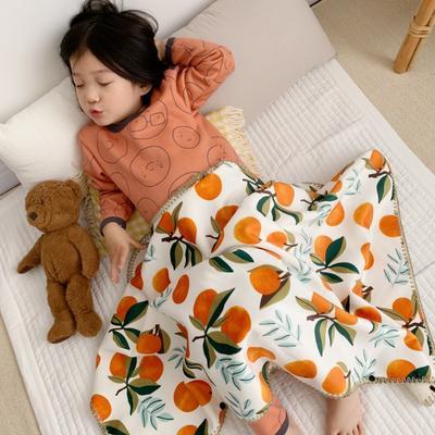 2019新款披肩毯-宝宝 S:100*68cm(宝宝款) 披肩毯-橘子