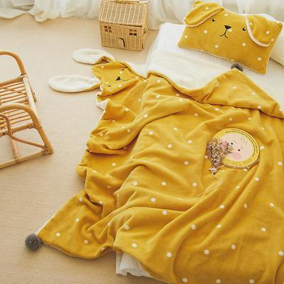 2019新款SWEET系列-被套毯 单枕套30*50 兔兔毯-姜黄