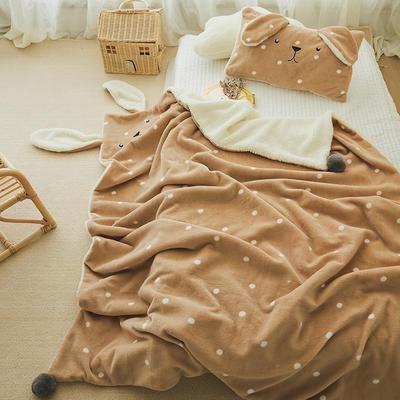 2019新款SWEET系列-被套毯 单枕套30*50 兔兔毯-卡其