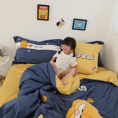 2019新款Sweet Home --橘猫-黄四件套 橘猫抱枕尺寸35*35 加菲猫