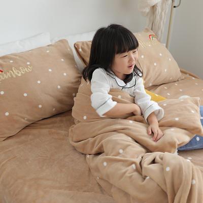 2019新款彩虹波点四件套 搭配的三角抱枕/星星抱枕/个 卡其波点