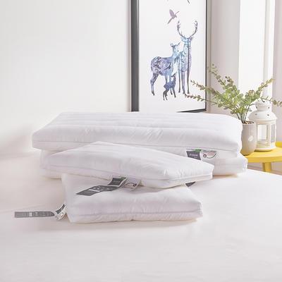 (總)北鳴有魚低枕頭家用超薄款枕芯矮枕扁平護頸椎兒童柔軟 白(成人款薄款)48×74cm