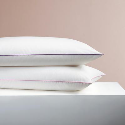 2020新款小軟枕A類嬰兒可用級別枕頭單人護頸椎枕酒店五星級全棉家用純棉雙人枕頭枕芯一對拍2 48×74cm紫小軟