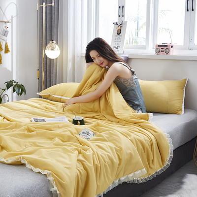 2020新款凉感丝夏被 150x200cm 倾心 贵族黄